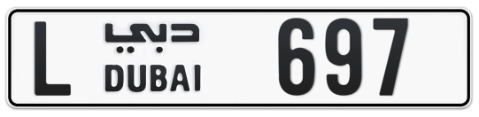 Dubai Plate number L 697 for sale on Numbers.ae