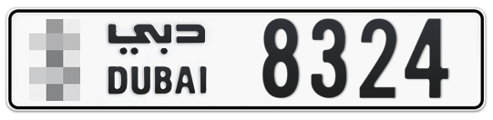 * 8324 - Plate numbers for sale in Dubai