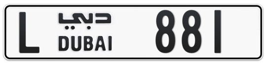 L 881 - Plate numbers for sale in Dubai