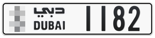 * 1182 - Plate numbers for sale in Dubai
