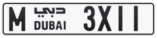 M 3X11 - Plate numbers for sale in Dubai