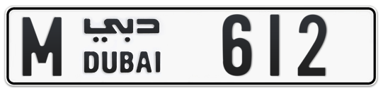 M 612 - Plate numbers for sale in Dubai