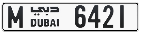 M 6421 - Plate numbers for sale in Dubai