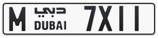 M 7X11 - Plate numbers for sale in Dubai