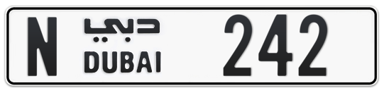 N 242 - Plate numbers for sale in Dubai