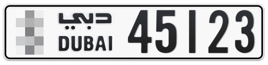 * 45123 - Plate numbers for sale in Dubai