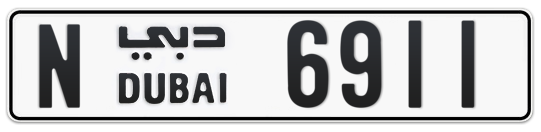 N 6911 - Plate numbers for sale in Dubai