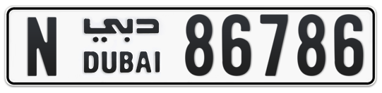 N 86786 - Plate numbers for sale in Dubai