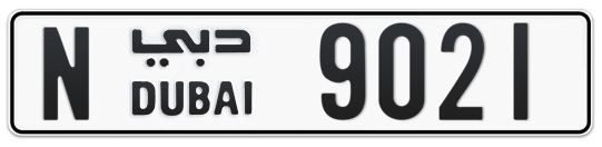 N 9021 - Plate numbers for sale in Dubai