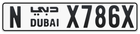 N X786X - Plate numbers for sale in Dubai