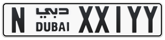 N XX1YY - Plate numbers for sale in Dubai