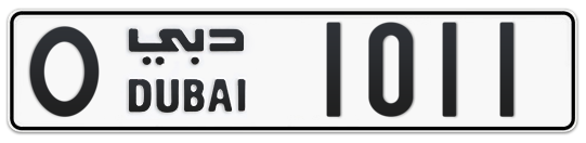 O 1011 - Plate numbers for sale in Dubai