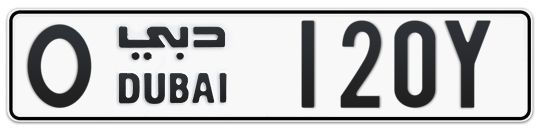O 120Y - Plate numbers for sale in Dubai
