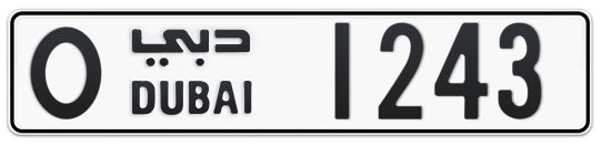 O 1243 - Plate numbers for sale in Dubai
