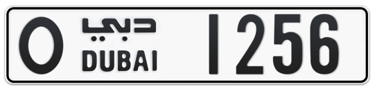 O 1256 - Plate numbers for sale in Dubai