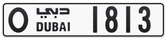 O 1813 - Plate numbers for sale in Dubai