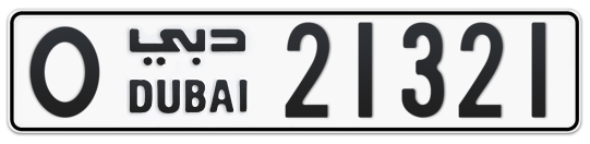O 21321 - Plate numbers for sale in Dubai
