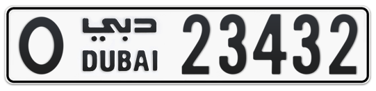 O 23432 - Plate numbers for sale in Dubai