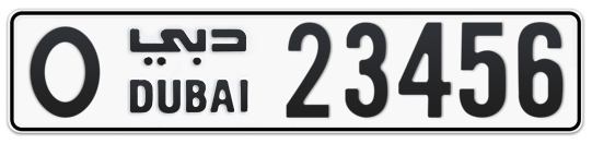 O 23456 - Plate numbers for sale in Dubai