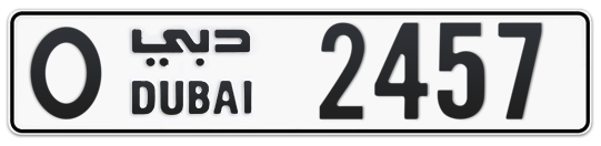 O 2457 - Plate numbers for sale in Dubai
