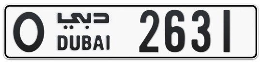 O 2631 - Plate numbers for sale in Dubai
