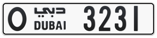 O 3231 - Plate numbers for sale in Dubai
