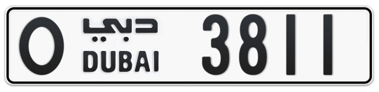 O 3811 - Plate numbers for sale in Dubai