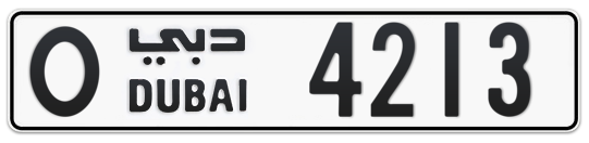 O 4213 - Plate numbers for sale in Dubai