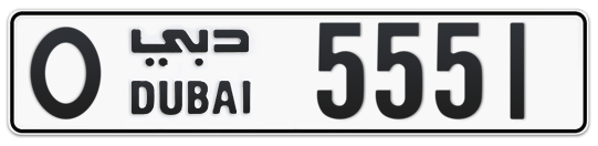 O 5551 - Plate numbers for sale in Dubai