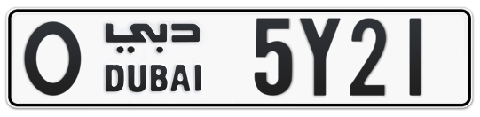 O 5Y21 - Plate numbers for sale in Dubai