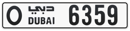O 6359 - Plate numbers for sale in Dubai