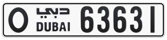 O 63631 - Plate numbers for sale in Dubai