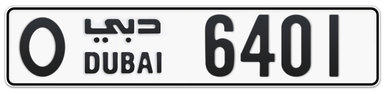O 6401 - Plate numbers for sale in Dubai