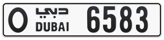 O 6583 - Plate numbers for sale in Dubai