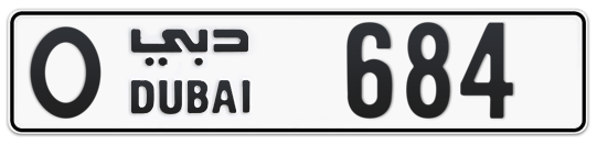 O 684 - Plate numbers for sale in Dubai