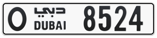 O 8524 - Plate numbers for sale in Dubai