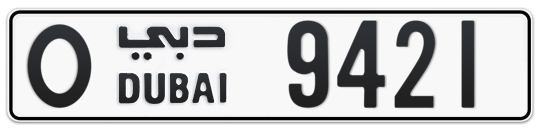 O 9421 - Plate numbers for sale in Dubai