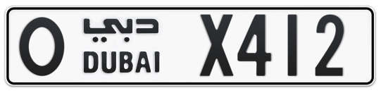 O X412 - Plate numbers for sale in Dubai