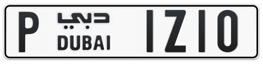 Dubai Plate number P 1Z10 for sale on Numbers.ae