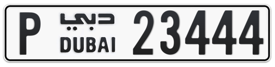 P 23444 - Plate numbers for sale in Dubai