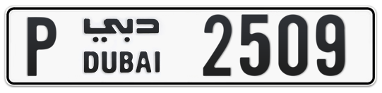 P 2509 - Plate numbers for sale in Dubai