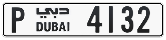 P 4132 - Plate numbers for sale in Dubai