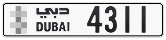 * 4311 - Plate numbers for sale in Dubai