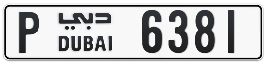 P 6381 - Plate numbers for sale in Dubai
