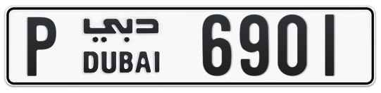 P 6901 - Plate numbers for sale in Dubai