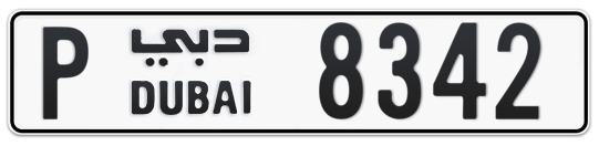 P 8342 - Plate numbers for sale in Dubai
