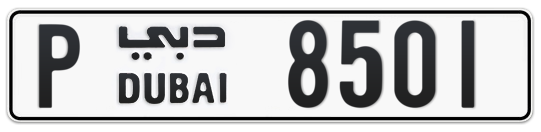 P 8501 - Plate numbers for sale in Dubai