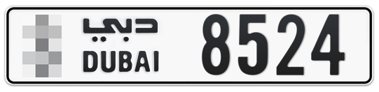 * 8524 - Plate numbers for sale in Dubai