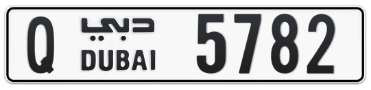 Q 5782 - Plate numbers for sale in Dubai