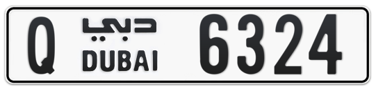 Q 6324 - Plate numbers for sale in Dubai